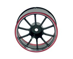 Wheel-Steer Alu. M12 Red
